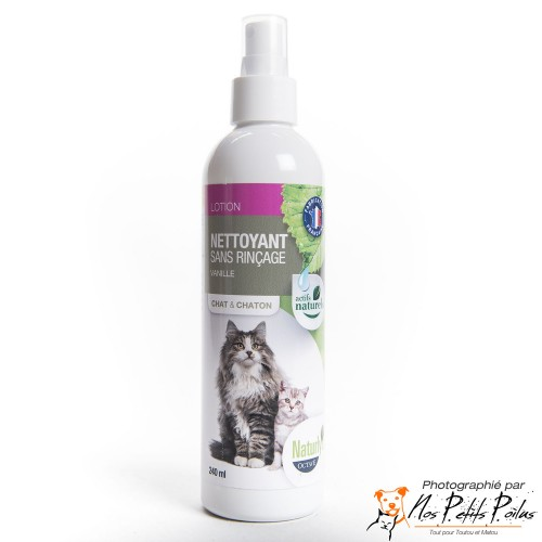 Lotion nettoyante chat/chaton Naturly's Octave