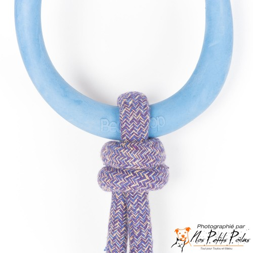 Beco Hoop on rope large bleu