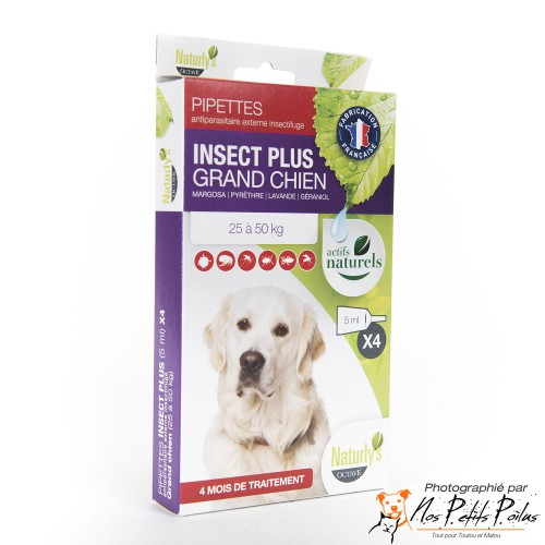 Pipettes antiparasitaires grand chien Naturly's Octave