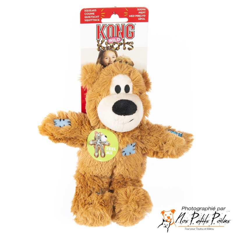 Kong Wild Knots Ours Brun clair