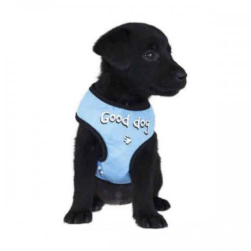 Harnais Tee Shirt Good Dog bleu